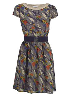 Holly Willoughby Vintage Chiffon Tea Dress $68