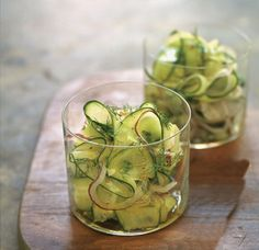 A simple, summery salad looks more elegant when the cucumbers are peeled into long strips. Featured on our new #WSRecipeOfTheDay App. Download now for more every day, seasonal dishes: https://itunes.apple.com/us/app/recipe-day-from-williams-sonoma/id954919396?mt=8