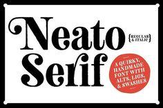 Neato Serif Font Family - 50% Off by Adam Ladd on @creativemarket