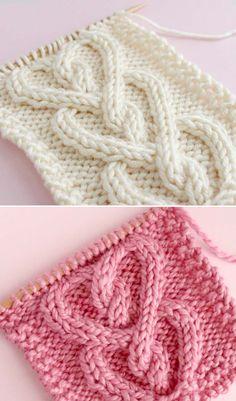 Free Knitting Pattern knitting patterns Knit a Cable Heart Stitch - Free Pattern & Tutorial Cable Pattern Free, Cable Knitting Patterns, Knitting Stiches, Loom Knitting, Knitting Designs, Knit Patterns, Free Knitting, Baby Knitting, Vogue Knitting