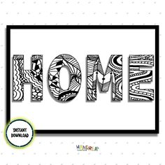 Home Quote, Instant Download, Printable Wall Art, New home gift, black and white print, by Handreacreations on Etsy https://www.etsy.com/uk/listing/553015175/home-quote-instant-download-printable
