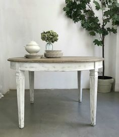 Dining Bench, Dining Room, Industrial Table, Kitchen Remodel, Interior Design, Furniture, Vintage, Home Decor, Round Kitchen