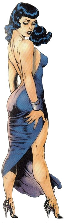 """and-the-show-goes-on: """" Bettie by Dave Stevens. """""""
