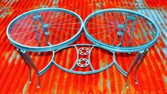 Double Coffee Tables - bicycle parts - the recycler