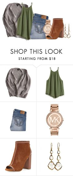 """""""Untitled #416"""" by mercedes-designs ❤ liked on Polyvore featuring Topshop, Hollister Co., Michael Kors, Steven by Steve Madden and Ippolita"""