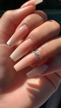 Light Pink Acrylic Nails, Short Square Acrylic Nails, White Tip Nails, Pink Ombre Nails, Bling Acrylic Nails, Acrylic Nails Coffin Short, Simple Acrylic Nails, Best Acrylic Nails, Aumbre Nails