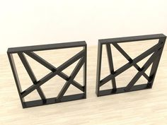 Legs for dining table industrial style and - SET of 2 (Pied de table) Coffee Table Base, Liquid Paint, Metal Table Legs, Ral Colours, Wood Steel, Garden Table, Industrial Style, Entryway Tables, Dining Table