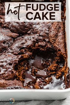 An easy hot fudge cake recipe perfect for every chocolate lover saltandbaker hotfudge cake chocolate recipe Easy Chocolate Desserts, Köstliche Desserts, Delicious Desserts, Dessert Recipes, Cake Chocolate, Hot Chocolate Dessert, Chocolate Desert Recipes, Chocolate Shavings, Chocolate Chocolate