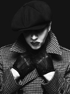"""MM """"When I hate it I know I can feel it. When you love it you know it's not real, no."""" The Pale Emperor 2015."""