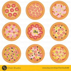 Yummy Pizza vector - Digital Clipart - Instant Download - EPS, PNG files included - FREE Small Commercial Use by ChenStudio88 on Etsy https://www.etsy.com/listing/235986059/yummy-pizza-vector-digital-clipart