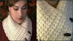 How To Crochet A Collar Scarf ~ Tutorial - YouTube