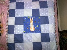 Peter rabbit cot bed patchwork quilt by Happilyevercrafts on Etsy, Children's Quilts, Cot Bedding, Peter Rabbit, Baby Room, Room Ideas, Blanket, Sewing, Trending Outfits, Handmade Gifts