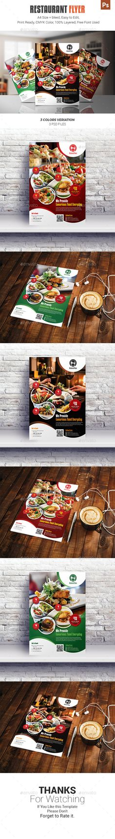 #Restaurant #Flyer - Restaurant Flyers