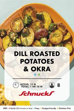 """You'll want to favorite this recipe for all those """"bring a side dish"""" invites. Roasted Potatoes, Roasted Vegetables, Vegan Gluten Free, Vegan Vegetarian, White Potatoes, Okra, New Recipes, Cooking Tips, Invites"""
