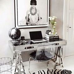 """The Workspace Stylist  (TWS) on Instagram: """"Workspace Inspo and Image Regram thanks to Annette @nettenestea  @honeypieliving as seen on @lovewarriors with Spotter  thanks to @formanpictureframing ❤❤❤ This is the stunning and stylish workspace of Fashion Editor and Stylist Annette @nettenestea based in Norway. We love a workspace that reflects the personality of it's owner so well...this one blows us away!"""""""