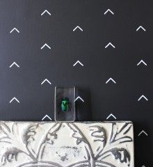 This is wallpaper -- but I can use washi tape to make the same design in the entryway, right?