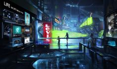 cyberpunk, future, cyber city