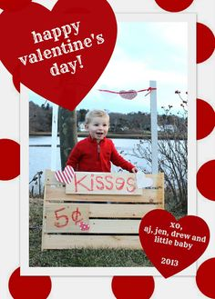 Kissing booth Valentine's Day card
