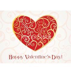Valentines day card vector on VectorStock®