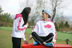 Keep Running, Running Man, Luhan, Kim Ji Won, Kris Wu, Cute Family, Sweet Couple, Playboy, Baby Strollers