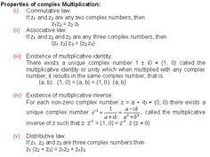 properties of complex multiplication pioneer mathematics maths formula