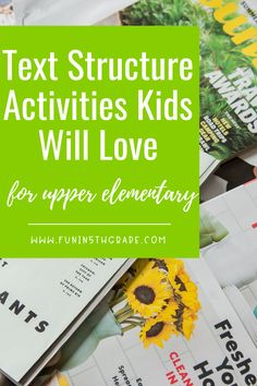 Text structure can be a challenge for upper elementary students. Great info for introducing text structure, teaching it and reviewing text structure! Use these engaging ideas to help make the topic stick with your students. From flipbooks, to anchor charts to game shows, there is an activity for every classroom! Fun