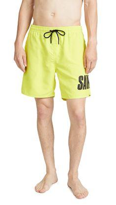 447708a943 SATURDAYS SURF NYC TIMOTHY ACCORDION SWIM SHORTS. #saturdayssurfnyc #cloth