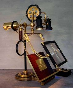 Steampunk-Inspired Lamps - Designer Art Donovan's Lighting Fixtures Reference Mechanical Subgenre (GALLERY)