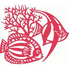 Silhouette Design Store: fishes coral