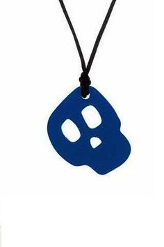 Skull Sensory Chew Necklace-Ideal for Those with Sensory Needs//Autism//SPD//ADHD Blue