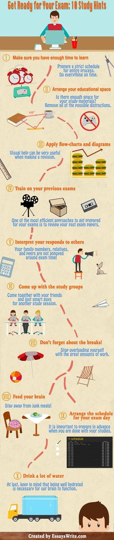 Effective Study Habits to Get Ready for Your Exam #infographic #Education