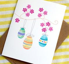 Adorable Watercolor Easter Card