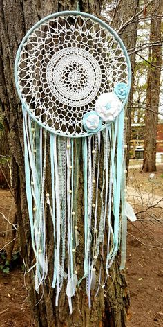 Extra large dream catcher doily dream by ConsciousEarthCreate