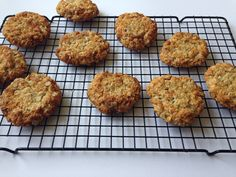 Oat and coconut cookies