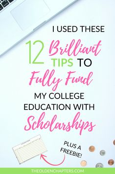 The top tips for finding and winning college scholarships. Learn how you can graduate college debt free and fund your college experience through your senior year. Great for students of all ages. Includes a free scholarship spreadsheet to kickstart your jo Grants For College, Financial Aid For College, College Planning, College Hacks, Education College, College Scholarships, College Checklist, College Dorms, Money For College