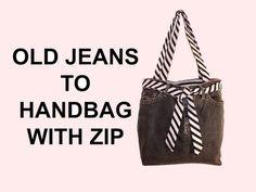DIY Fashion jean bag (How to make a jean purse with ZIP) DIY Bag Vol 7 - YouTube