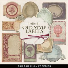 FREE Digital Scrapbook Downlad ~ Old Style Labels...great for heritage scrapbooking or containers.