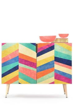 Jacqueline Maldonado Upward 1 Credenza by Deny Designs Upcycled Furniture, Furniture Projects, Furniture Makeover, Furniture Decor, Painted Furniture, Modern Furniture, Furniture Design, Plywood Furniture, Chair Design