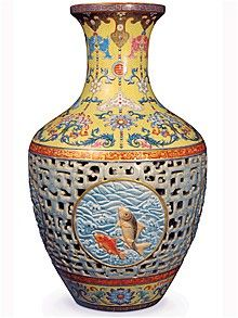 World's Most Expensive  Vase: The Chinese 18th century Qianlong dynasty Porcelain Vase 40 centimetres-tall fetched a staggering $ 53 million . We can create with the best materials the authentic replica. Price starts from  $34,800 for more information send us email