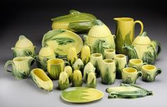 Vintage King Corn dishes by Shawnee 1946 ~ 1954