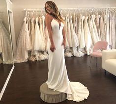 Wedding Dress Shopping at Malindy Elene in Tampa, FL (Theia 'Bruna') Wedding Dress Shopping, Formal Dresses, Wedding Dresses, Fashion, Dresses For Formal, Bride Dresses, Moda, Bridal Gowns, Formal Gowns