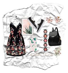"""""""Bez naslova #17"""" by almahurtic ❤ liked on Polyvore featuring Art Addiction, The 2nd Skin Co., Marchesa, GUESS, ban.do and Vans"""