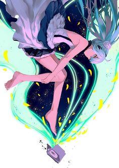 Hatsune Miku аниме, vocaloid, Hatsune Miku, anime art, длиннопост