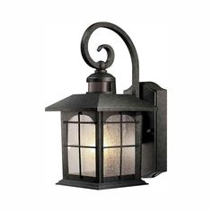 Home Decorators Collection Brimfield 180° 1-Light Aged Iron Motion-Sensing Outdoor Wall Lantern Sconce-HB7251MA-292 - The Home Depot