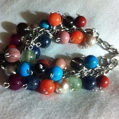 Another view of my chunky bead bracelet #creativity #gems #beads #jewelry #jewellery #bracelet