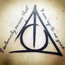 Tattoos: Harry Potter.