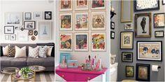 20 Ideas para decorar con fotos y cuadros
