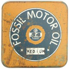 Vintage Fossil Tin! Do you collect your fossil tins? - Gingerich Group #fossil #promo #vintage