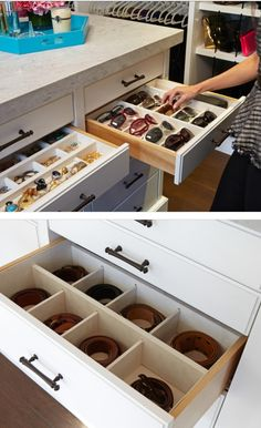 Jewelry and accessories storage.