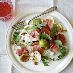 looks so fresh and delicious!    Celebrate Fig Season | Marinated Fig Salad | SouthernLiving.com
